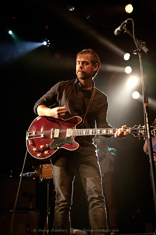 Aaron Dessner of the National perform in support of High Violet on October 18, 2010 at the Fillmore Auditorium in Denver, Colorado