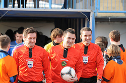 Referees before football match between ND Gorica and ND Mura 05 in 20th Round of Prva liga NZS 2012/13, on November 24, 2012 in Nova Gorica, Slovenia. (Photo by Ales Cipot / Sportida).