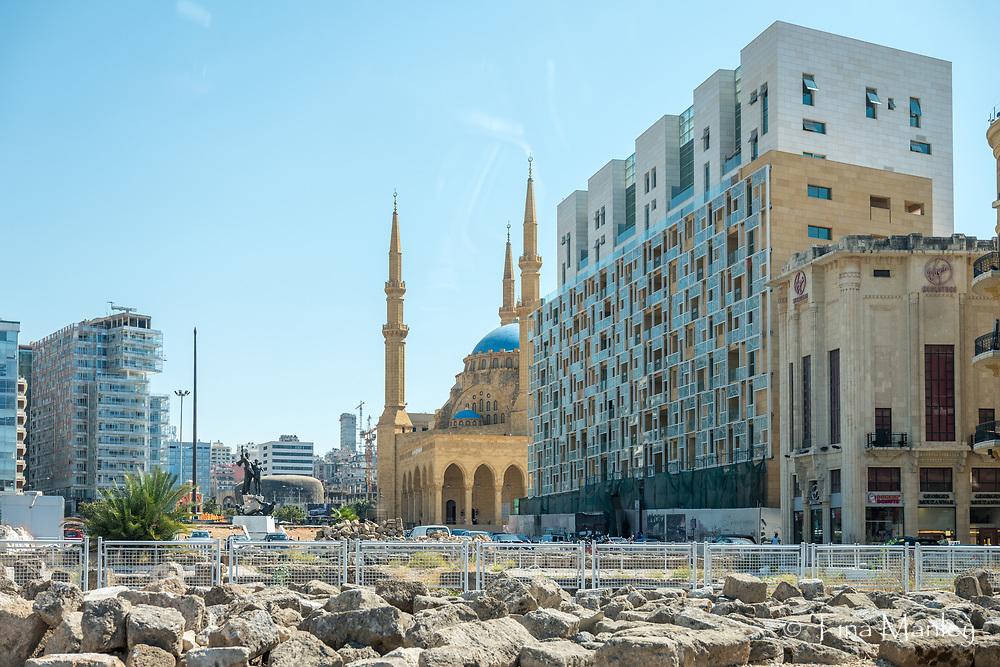 Downtown Beirut, rebuilt after war.