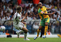 Photo: Paul Thomas.<br /> Leeds United v Norwich City. Coca Cola Championship.<br /> 05/08/2006.<br /> <br /> Leon McKenzie of Norwich has a shot at goal.