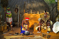 ESHOWE, SOUTH AFRICA, DECEMBER 2004. Sleeping in luxury Traditional huts of Shakaland while the Zulu chief performs his ritual and the dancers perform in the evening. South Africa  offers some of the world's most beautiful views and many cultures. Photo by Frits Meyst/Adventure4ever.com