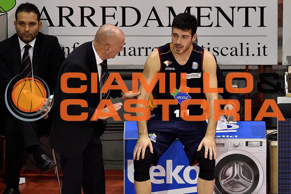 DESCRIZIONE : Pistoia Lega A 2014-2015 Giorgio Tesi Group Pistoia Acea Roma<br /> GIOCATORE : Lorenzo Dercole Luca Dalmonte<br /> CATEGORIA : cambio<br /> SQUADRA : Acea Roma<br /> EVENTO : Campionato Lega A 2014-2015<br /> GARA : Giorgio Tesi Group Pistoia Acea Roma<br /> DATA : 30/11/2014<br /> SPORT : Pallacanestro<br /> AUTORE : Agenzia Ciamillo-Castoria/GiulioCiamillo<br /> GALLERIA : Lega Basket A 2014-2015<br /> FOTONOTIZIA : Pistoia Lega A 2014-2015 Giorgio Tesi Group Pistoia Acea Roma<br /> PREDEFINITA :