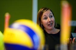 12-05-2014 NED: Persconferentie Nederlands vrouwen en mannen team, Arnhem<br /> Op papendal werden door beide bondcoaches en aanvoerders de plannen voor het nieuwe seizoen gepresenteerd / Joelle Staps