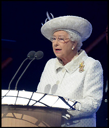 Image licensed to i-Images Picture Agency. 23/07/2014. Glasgow, United Kingdom. The Queen during the opening ceremony of  the Commonwealth Games in Glasgow.. Picture by Andrew Parsons / i-Images