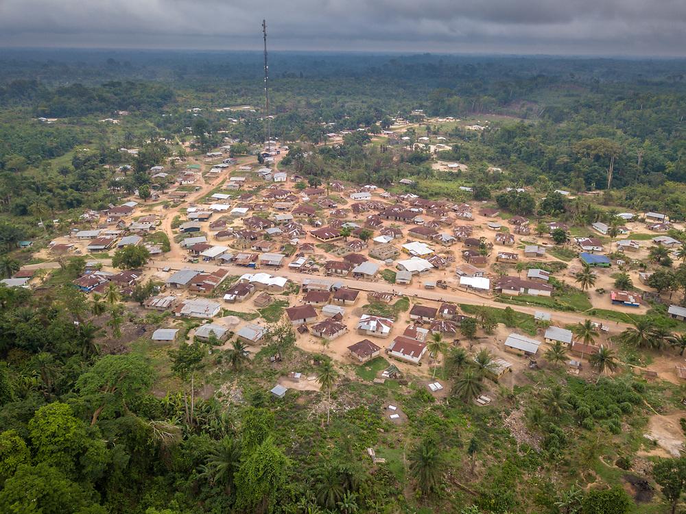The paved road from monrovia to Ganta, Liberia