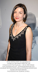 Writer DONNA TARTT at a reception in London on 18th March 2003.	PIC 125