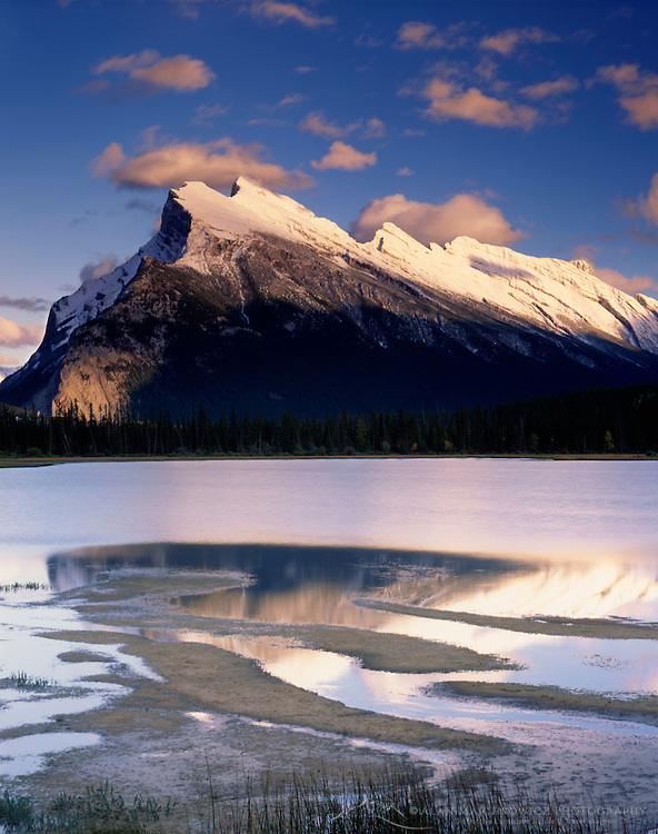 Mount Rundle from Vermilion Lakes, Banff National Park Alberta Canada