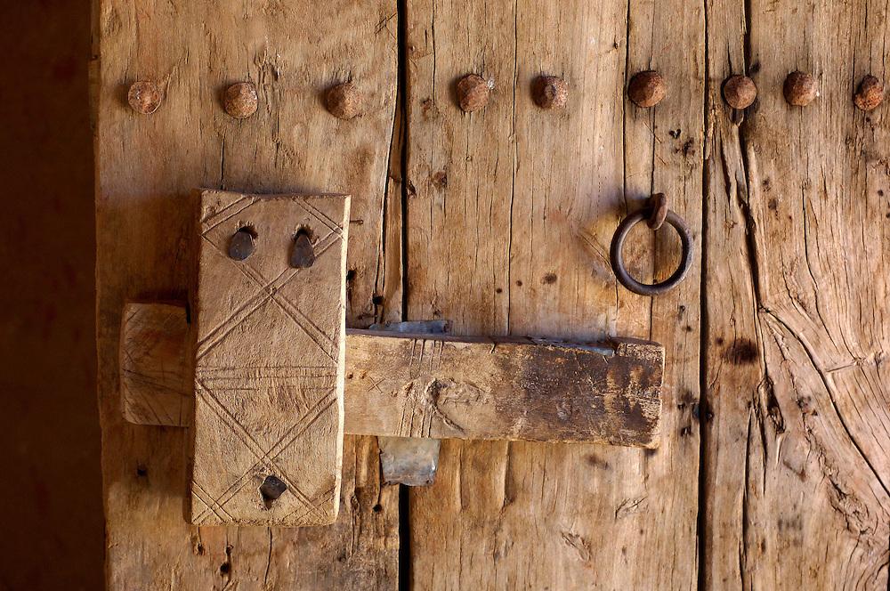 Wooden door, Ksar Tinejdad, Morocco