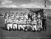 23/05/1953<br /> 05/23/1953<br /> 23 May 1953  <br /> Soccer: Ireland v Wales Schoolboys International at Dalymount Park, Dublin. The Ireland team. The Welsh team.