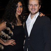 NLD/Amsterdam/20141108 - Inloop JFK Greatest Man of the Year 2014 award, Toprak Yalcinar en partner Mats