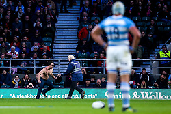 A pitch invader disrupts play between Barbarians and Argentina - Mandatory by-line: Robbie Stephenson/JMP - 01/12/2018 - RUGBY - Twickenham Stadium - London, England - Barbarians v Argentina - Killick Cup