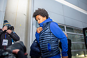 Willian (10) of Chelsea FC arriving at the KCOM Stadium before the The FA Cup match between Hull City and Chelsea at the KCOM Stadium, Kingston upon Hull, England on 25 January 2020.
