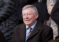 Former Manchester United manager Alex Ferguson before the Barclays Premier League match at Anfield, Liverpool<br /> Picture by Russell Hart/Focus Images Ltd 07791 688 420<br /> 22/03/2015