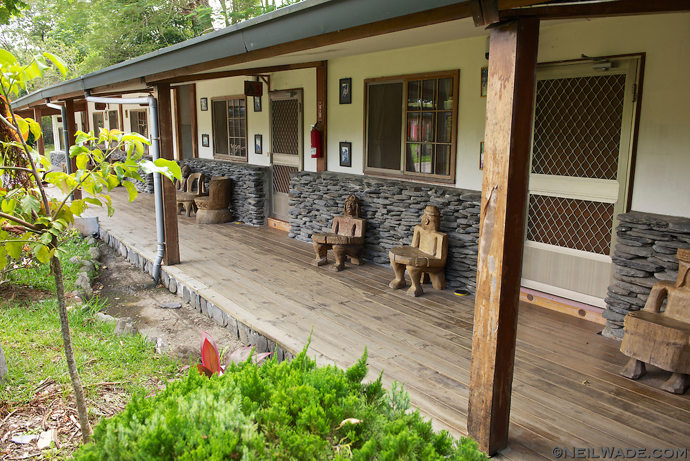 The guest accommodations at the Bunun Village use some design features similar to traditional housing.