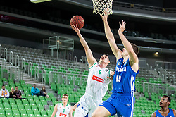 Jan Span of Petrol Olimpija during basketball match between KK Petrol Olimpija and KK Rogaska in Round #5 of Liga Nova KBM za prvaka 2018/19, on March 31, 2019, in Arena Stozice, Ljubljana, Slovenia. Photo by Masa Kraljic / Sportida