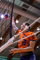 05-05-2019 NED: Achterhoek Orion - Abiant Lycurgus, Doetinchem<br /> Final Round 4 of 5 Eredivisie volleyball, Orion have a 2-1 lead in the best-of-five series but lost the fourth match 3-2 / Joris Marcelis #4 of Orion