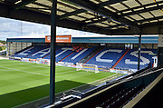 The stewards get a briefing before the Sky Bet League 1 match between Oldham Athletic and Bradford City at Boundary Park, Oldham, England on 5 September 2015. Photo by Mark Pollitt.