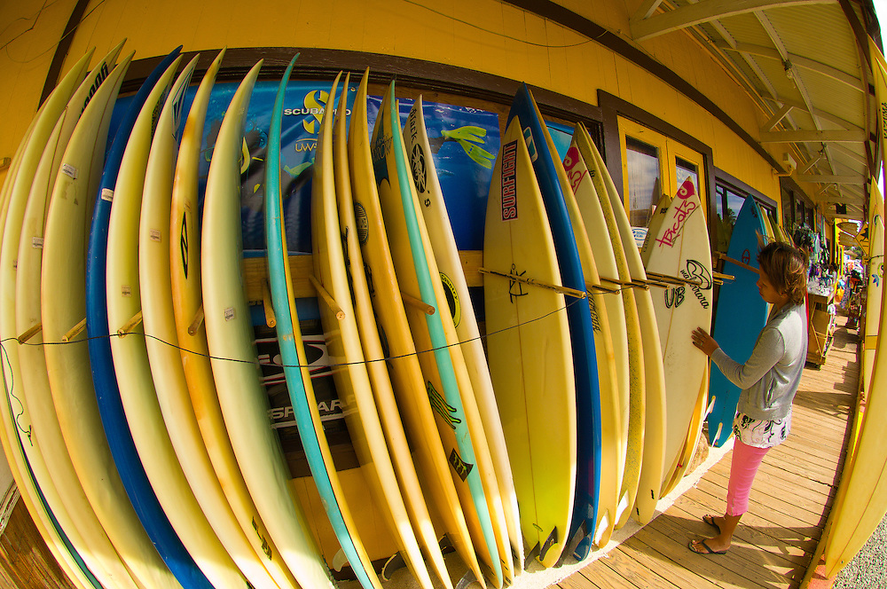 Surf N Sea Shop, Hale'iwa, North Shore, Oahu, Hawaii, USA