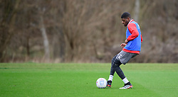 Lincoln City's Timothy Eyoma during a training session at the BMW Soper of Lincoln Elite Performance Centre, Scampton, Lincolnshire.<br /> <br /> Picture: Chris Vaughan Photography for Lincoln City FC<br /> Date: February 4, 2020