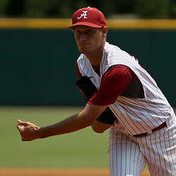 June 05, 2011; Tallahassee, FL, USA; Alabama Crimson Tide pitcher Jonathan Smart (26) throws against the UCF Knights during the second inning of the Tallahassee regional of the 2011 NCAA baseball tournament at Dick Howser Stadium. Alabama defeated UCF 12-5. Mandatory Credit: Derick E. Hingle