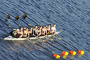 Chiswick. London.Tideway Scullers School [C Crew] [School/Juniors] start of the 2011 Women's Head of the River Race, Mortlake to Putney, looking from Chiswick Bridge.   Saturday  19/03/2011 [Mandatory Credit; Peter Spurrier/Intersport-images]