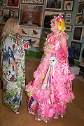 SARA CORMACK, GRAYSON PERRY,, Royal Academy of arts summer exhibition summer party. Piccadilly. London. 4 June 2019