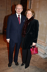 JOHN & PENNY GUMMER he is an MP at the annual House of Lords & House of Commons Parliamentary Palace of Varieties at St.John's Smith Square, London on 27th January 2005.<br />