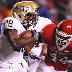 Oct 16, 2009; Piscataway, NJ, USA; Rutgers linebacker Ryan D'Imperio (44) chases Pittsburgh running back Dion Lewis (28) during first half NCAA football action in Pittsburgh's 24-17 victory over Rutgers at Rutgers Stadium.