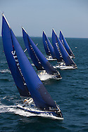 Pictures of the Artemis Offshore Academy Figaro fleet. Shown here training in Lorient .Credit: Lloyd Images