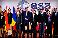 NOORDWIJK - King Willem-Alexander attends the opening ceremony of the 31st edition of the ISU Space Studies Program at the European Space Research and Technology Center (ESA ESTEC) in Noordwijk. copyright robin utrecht