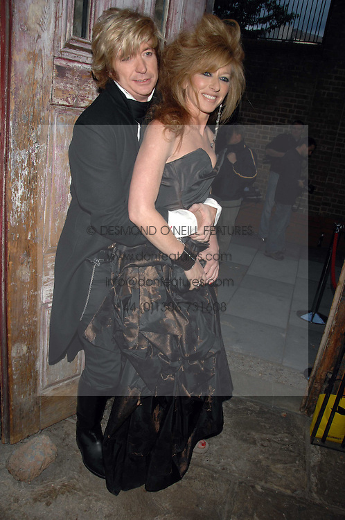 NICKY CLARKE and KELLY HOPPEN at the Stephen Webster launch party of his latest jewellery collection during the London Jewellery Week, at Wilton's Music Hall, Graces Alley, Off Ensign Street, London E1 on 12th June 2008.<br />