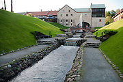 The water mill at the rennovated Belmontas Restaurant, Vilnius, Lithuania