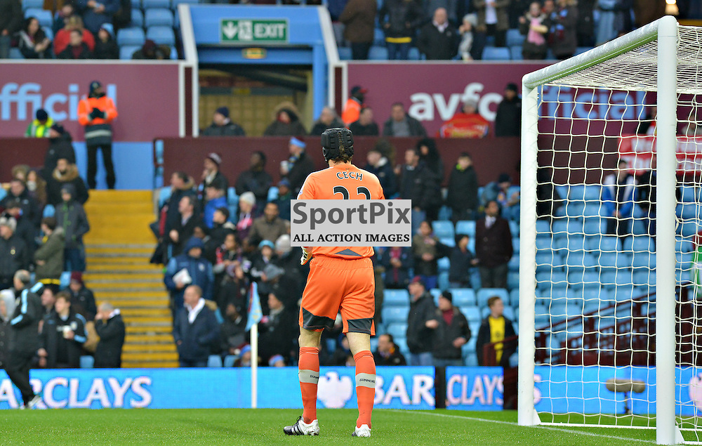 Arsenal's Petr Cech warms-up before the game at Villa......(c) BILLY WHITE | SportPix.org.uk