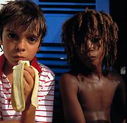 Tourist and Local Children - Port Maria - Jamaica