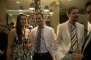 DR. MIMA PSENICKA, DR. PETER DAR AND DR. ANDREAS ROLLIN, Swiss Smile Clinic Christmas Drinks. Brook St. London. 5 December 2007. -DO NOT ARCHIVE-© Copyright Photograph by Dafydd Jones. 248 Clapham Rd. London SW9 0PZ. Tel 0207 820 0771. www.dafjones.com.