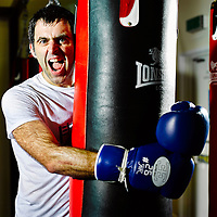 Forever Sport Magazine<br /> Ronnie O'Sullivan<br /> Boxing<br /> Pow Boxing Gym, Sheffield.<br /> 10th April 2015<br /> Copyright Malcolm Griffiths<br /> Contact 07768 230706<br /> www.malcolm.gb.net