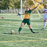 5th year Forward, Brianna Wright (7) of the Regina Cougars during the Women's Soccer home game on Sun Sep 09 at U of R Field. Credit: Arthur Ward/Arthur Images