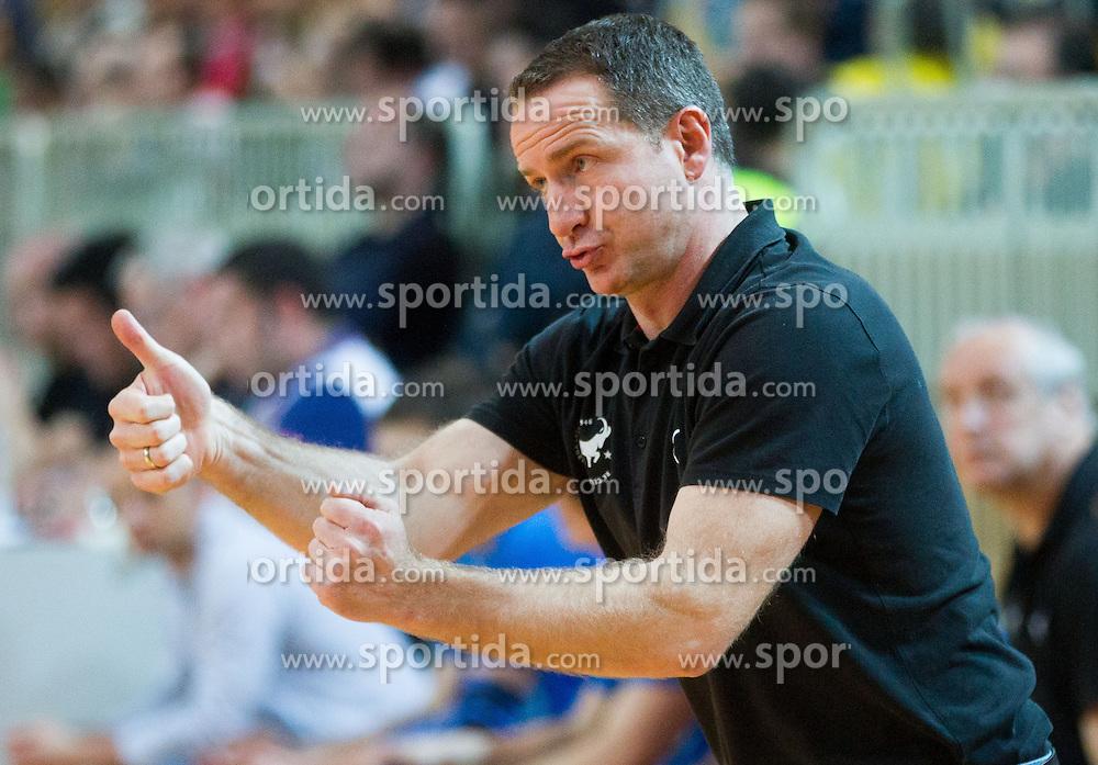 Vladan Matic, head coach of Celje during handball match between RK Cimos Koper and RK Celje Pivovarna Lasko in 26th Round of 1st NLB Leasing league 2012/13 on April 14, 2013 in Arena Bonifika, Koper, Slovenia. (Photo By Vid Ponikvar / Sportida)