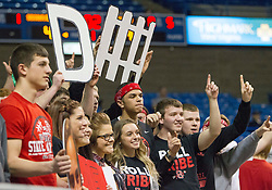 The Sissonville student section poses for a photo during a first round game at the Charleston Civic Center.