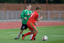 NEWPORT, WALES - Thursday, August 4, 2016: Regional Development Boys' Bradley Gibbings during the Welsh Football Trust Cymru Cup 2016 at Newport Stadium. (Pic by Paul Greenwood/Propaganda)