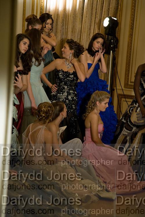 The 2008 Crillon Debutante Ball. Getting Ready the Day before. Crillon Hotel. Paris. 29 November 2008. *** Local Caption *** -DO NOT ARCHIVE-© Copyright Photograph by Dafydd Jones. 248 Clapham Rd. London SW9 0PZ. Tel 0207 820 0771. www.dafjones.com.