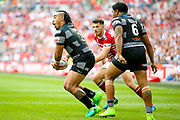 Hull FC right wing Mahe Fonua (2) in action  during the Ladbrokes Challenge Cup Final 2017 match between Hull RFC and Wigan Warriors at Wembley Stadium, London, England on 26 August 2017. Photo by Simon Davies.