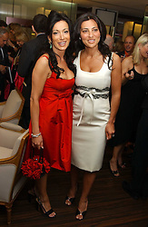 Left to right, NANCY DELL'OLIO and ELLA KRASNER at a party to celebrate the publication of 'The Russian House' by Ella Krasner held at De Beers, 50 Old Bond Street, London W1 on 9th June 2005.<br />