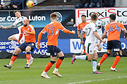 Glen Rea of Luton Town (16) gets above Connor Smith of Plymouth Argile (6) during the EFL Sky Bet League 2 match between Luton Town and Plymouth Argyle at Kenilworth Road, Luton, England on 25 February 2017. Photo by Andy Handley.