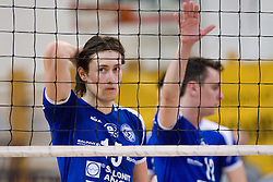 Simo Dabovic of Salonit at final match of Slovenian National Volleyball Championships between ACH Volley Bled and Salonit Anhovo, on April 24, 2010, in Radovljica, Slovenia. ACH Volley defeated Salonit 3rd time in 3 Rounds and became Slovenian National Champion.  (Photo by Vid Ponikvar / Sportida)