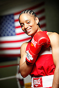 6/24/11 2:54:53 PM -- Colorado Springs, CO. -- A portrait of U.S. Olympic lightweight boxer Queen Underwood, 27, of Seattle, Wash. who will be competing for her fifth title. She began boxing in 2003 and was the 2009 Continental Champion and the 2010 USA Boxing National Champion. She is considered a likely favorite to medal at the 2012 Summer Olympics in London as women's boxing makes its debut as an Olympic sport. -- ...Photo by Marc Piscotty, Freelance.