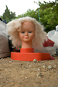 doll head at a flee market