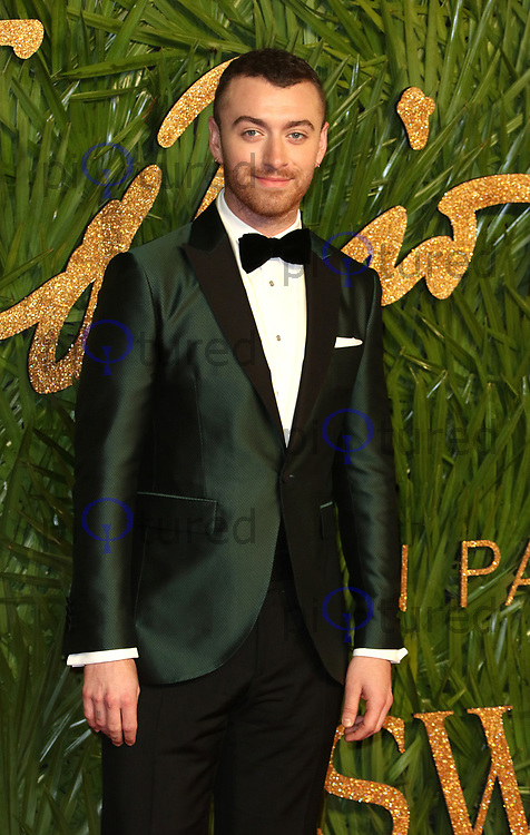 Sam Smith, The Fashion Awards 2017, The Royal Albert Hall, London UK, 04 December 2017, Photo by Richard Goldschmidt