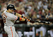 PHOENIX, AZ - JUNE 08:  Marco Scutaro #19 of the San Francisco Giants hits an RBI single against the Arizona Diamondbacks in the fourth inning at Chase Field on June 8, 2013 in Phoenix, Arizona.  (Photo by Jennifer Stewart/Getty Images) *** Local Caption *** Marco Scutaro