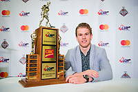 REGINA, SK - MAY 26: Scholastic Player of the Year Alexandre Alain of the Blainville Boisbriand Armada at the Brandt Centre on May 26, 2018 in Regina, Canada. (Photo by Marissa Baecker/CHL Images)
